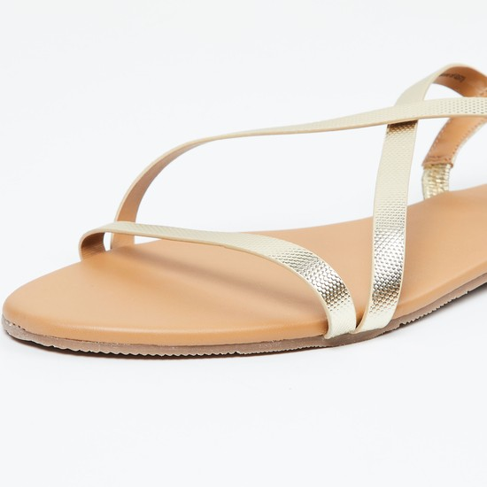 MAX Slingback Flat Sandals with Criss-Cross Straps