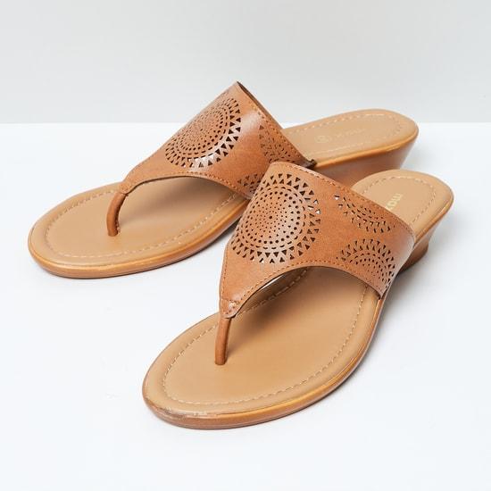 MAX Laser-Cut Detail Toe-Strap Wedges