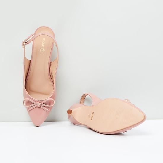 MAX Bow Detailed Kitten Heels