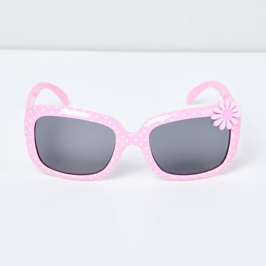 MAX Polka-Dot Print Rectangular Sunglasses