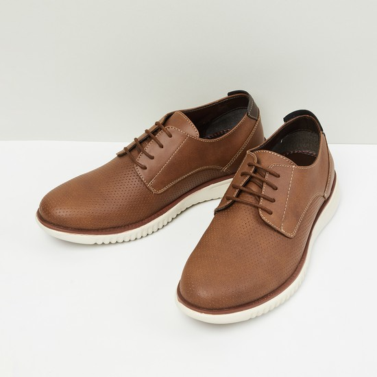MAX Textured Lace-Up Casual Derby Shoes