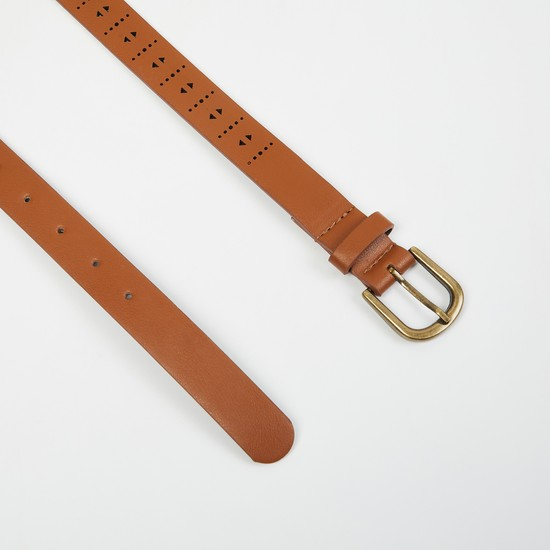 MAX Solid Slim Belt with Laser Cutouts