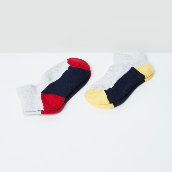 MAX Colourblocked Ankle Length Socks - Pack of 2 - 5-7Y