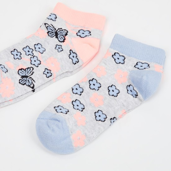 MAX Kids Jacquard Socks - Pack of 2 - 5-7 Y