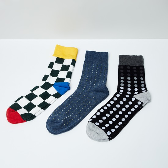 MAX Woven Design Socks- Set of 3