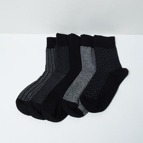 MAX Woven Design Socks- Set of 5