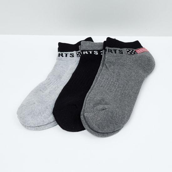 MAX Jacqaurd Patterned Ankle-Length Socks - Pack of 3