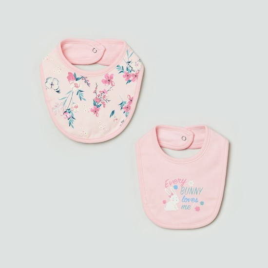 MAX Floral Print Bib - Set Of 2