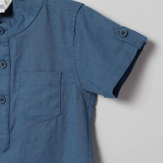 MAX Solid Casual Shirt with Short Sleeves