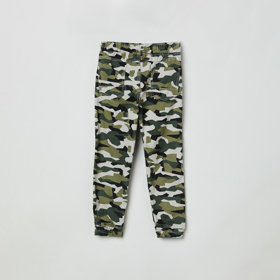 MAX Camouflage Printed Denim Joggers