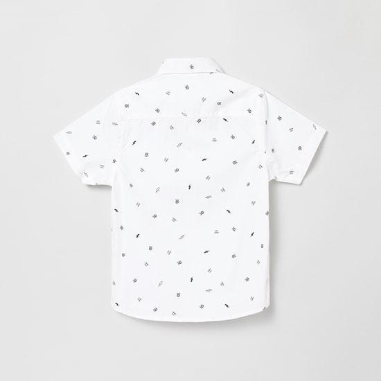 MAX Printed Casual Shirt with Short Sleeves