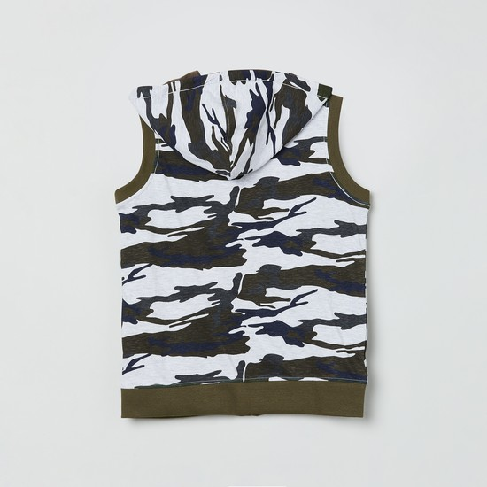 MAX Camouflage Print Reversible Hooded Jacket