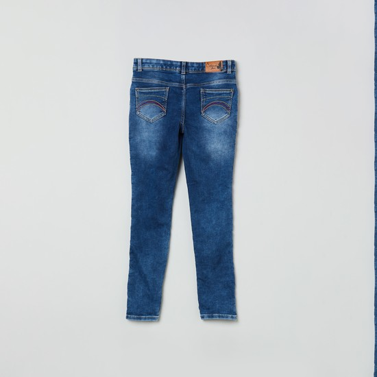 MAX Dark Washed Jeans with Contrast Taping