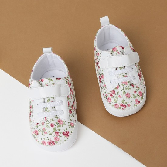 MAX Floral Print Velcro-Strap Casual Shoes
