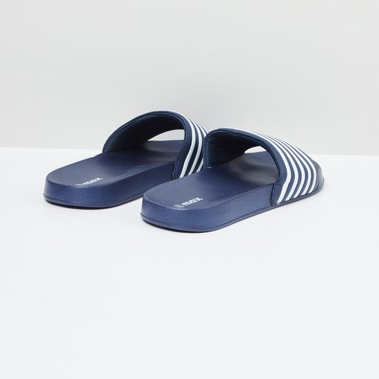 MAX Textured Sliders with Striped Strap