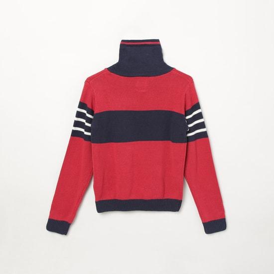 MAX Colourblocked High-Neck Sweater