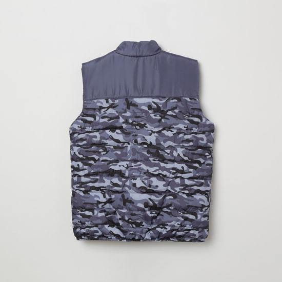 MAX Camouflage Print Padded Gilet Jacket