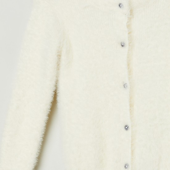 MAX Full Sleeves Button-Down Cardigan