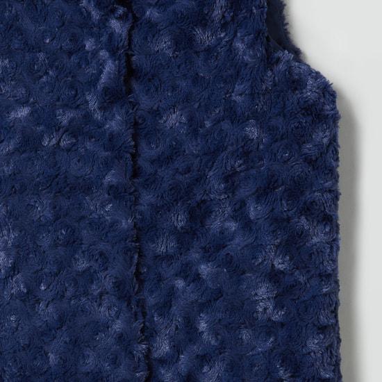 MAX Rosette Fur Textured Jacket