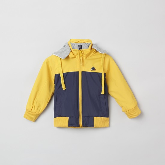 MAX Colourblock Full Sleeves Hooded Jacket