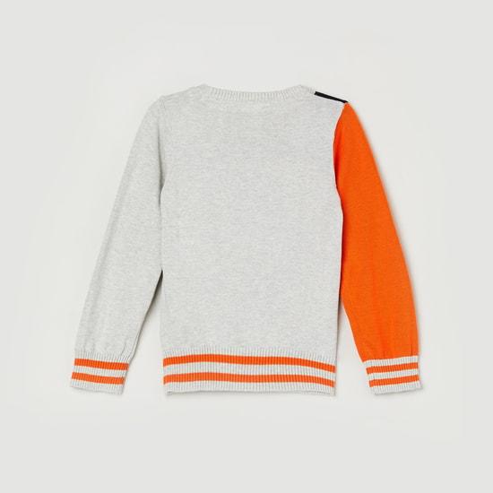 MAX Intarsia Star Pattern Sweater