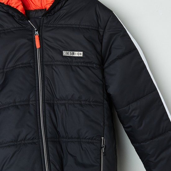 MAX Solid Padded Quilted Jacket