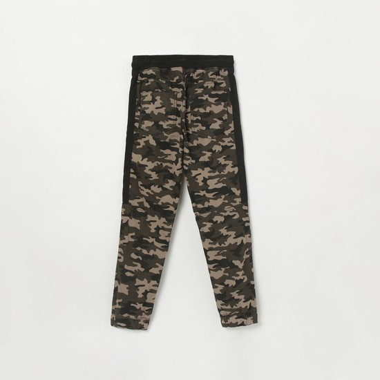MAX Camouflage Print Ankle-Length Trousers