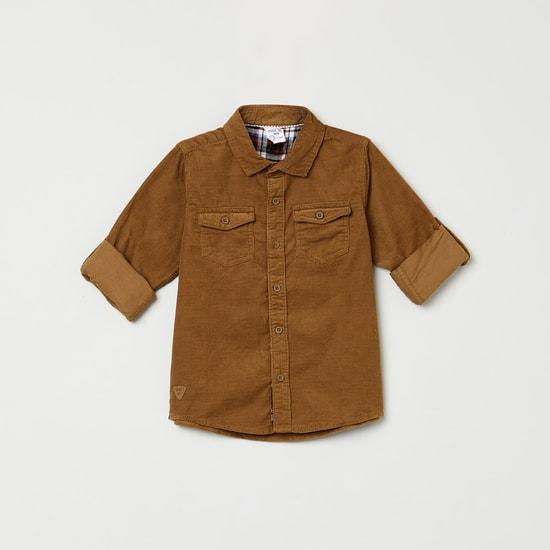 MAX Solid Corduroy Shirt