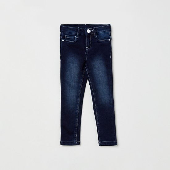 MAX Dark Washed 5-Pocket Slim Jeans