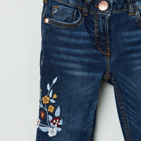 MAX Boys Embroidered Slim Fit Jeans