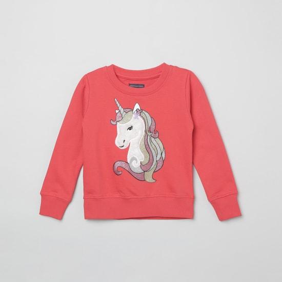 MAX Appliqud Full Sleeves Sweatshirt
