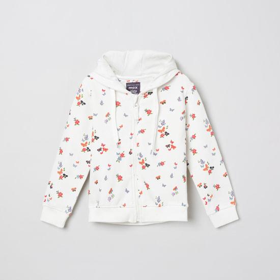 MAX Printed Full Sleeves Hooded Sweatshirt