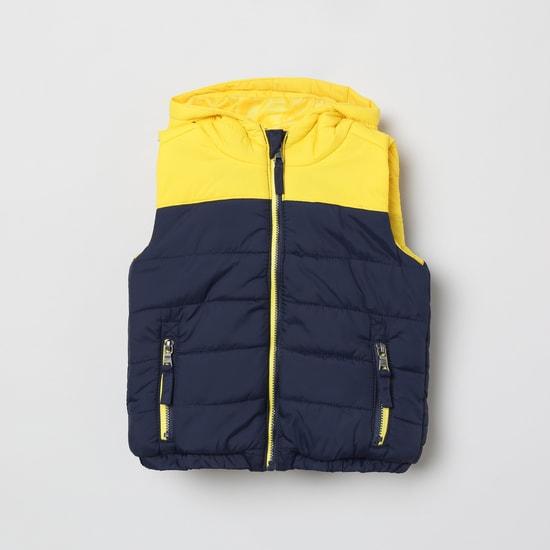 MAX Colourblocked Hooded Gilet Jacket