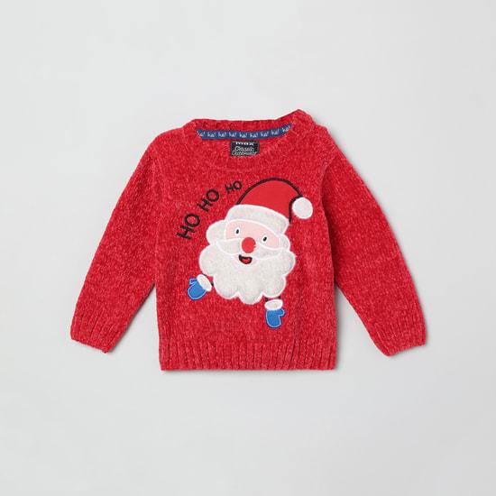 MAX Fuzzy Crew Neck Sweater