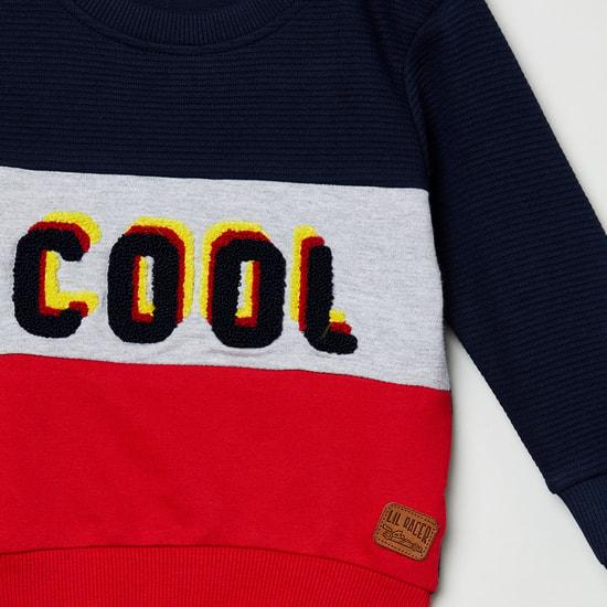 MAX Colourblocked Full Sleeves Sweatshirt with Applique