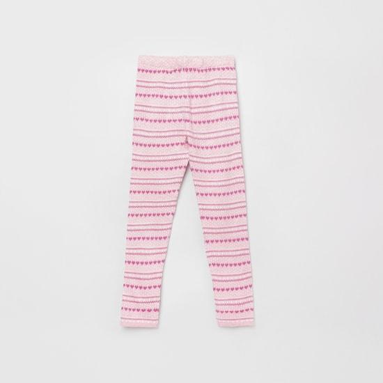 MAX Jacquard Knit Full-Length Leggings