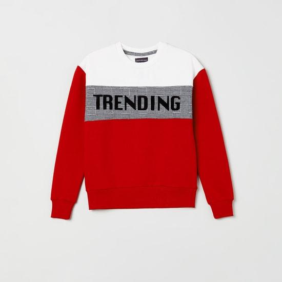 MAX Colourblock Sweatshirt with Applique