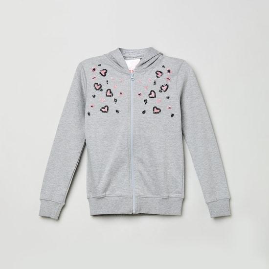 MAX Embellished Hooded Sweatshirt