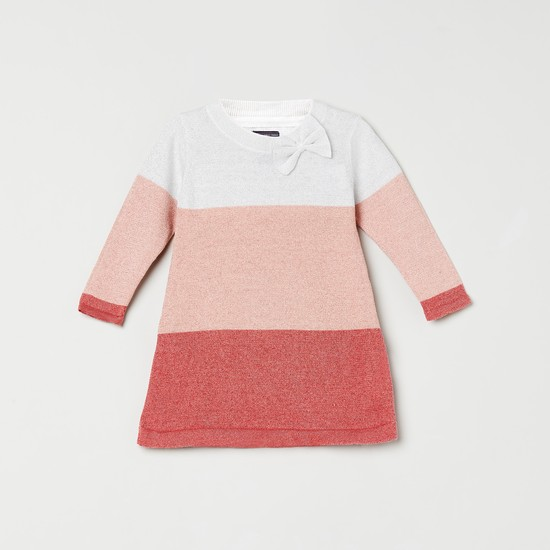 MAX Colourblock Sweater with Bow