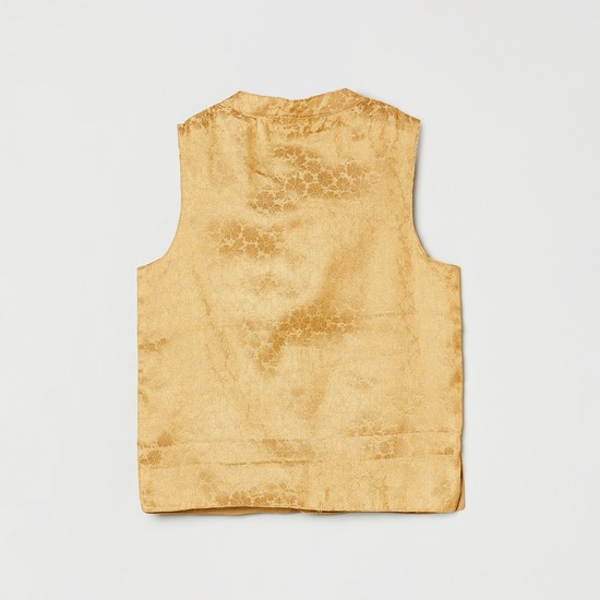 MAX Jacquard Patterned Sleeveless Ethnic Jacket
