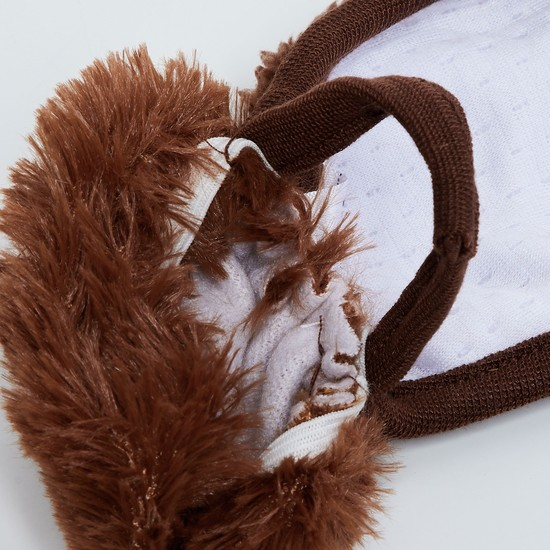 MAX Fuzzy Appliqued Face Mask