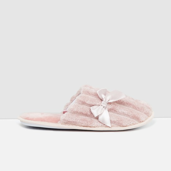 MAX Speckled Indoor Mules with Bow