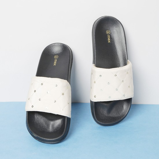 MAX Sequinned Quilted Sliders