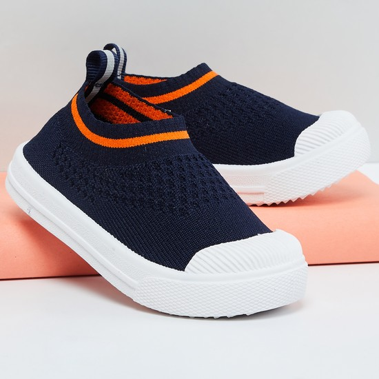 MAX Patterned Sock-Knit Slip-On Shoes