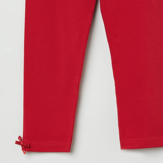 MAX Solid Elasticated 3/4th Leggings