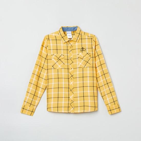 MAX Checked Roll-Up Sleeves Shirt