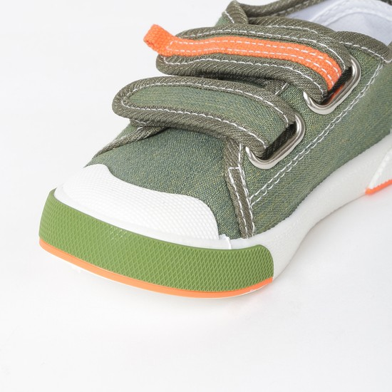 MAX Textured Velcro-Strap Casual Shoes