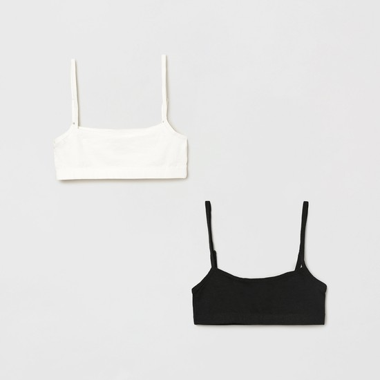 MAX Solid Camisole Bras - Set of 2 Pcs