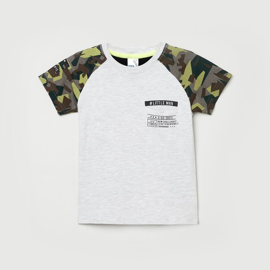 MAX Camouflage Printed Short Sleeves Casual T-shirt