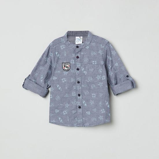 MAX Printed Mandarin Collar Shirt
